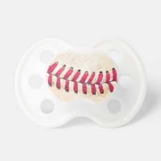 Las puntadas rojas del béisbol del vintage se cier chupete