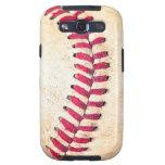 Las puntadas rojas del béisbol del vintage se cier samsung galaxy s3 protectores