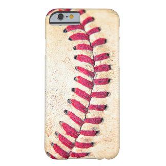 Las puntadas rojas del béisbol del vintage se funda de iPhone 6 slim