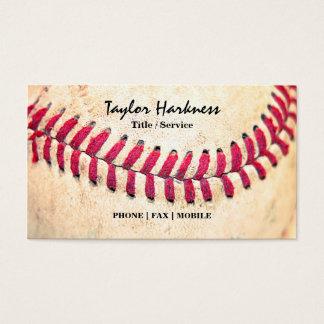 Las puntadas rojas del béisbol del vintage se tarjetas de visita