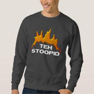 Las quemaduras de Stoopid - camisetas oscuro Sudaderas Encapuchadas