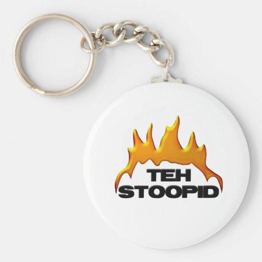 Las quemaduras de Stoopid Llaveros Personalizados