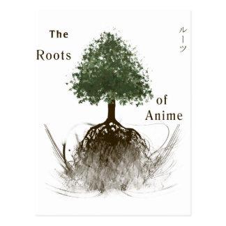Las raíces del animado tarjetas postales