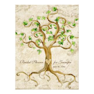 Las raíces del árbol del remolino Antiqued broncea Invitación