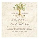 Las raíces del árbol del remolino Antiqued el boda Invitacion Personalizada