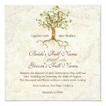 Las raíces del árbol del remolino Antiqued el boda Invitación 13,3 Cm X 13,3cm