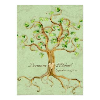 Las raíces del árbol del remolino Antiqued el boda Comunicado