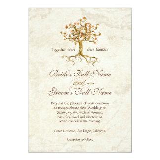 Las raíces del árbol del remolino Antiqued el boda Comunicados