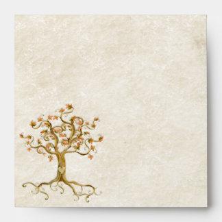 Las raíces del árbol del remolino Antiqued el boda Sobre