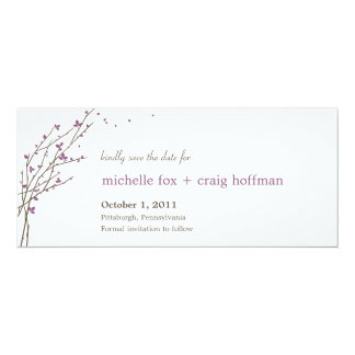 Las ramas florecientes ahorran la tarjeta de fecha invitación 10,1 x 23,5 cm