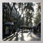 Las Ramblas, Barcelona Poster