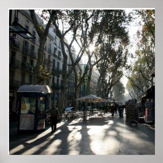 Las Ramblas, Barcelona Posters