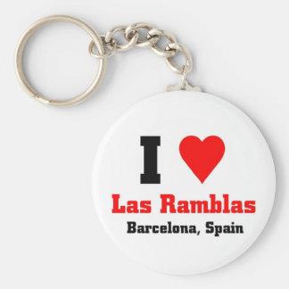 Las Ramblas, España Llaveros