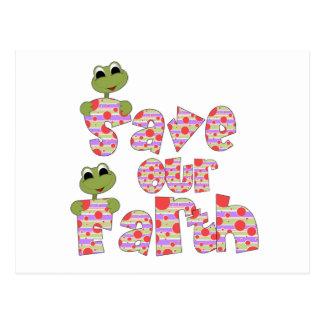 Las ranas ahorran nuestras camisetas y regalos de postales