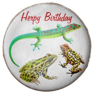 Las ranas del lagarto del cumpleaños de Herpy