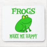 Las ranas me hacen feliz alfombrilla de ratones