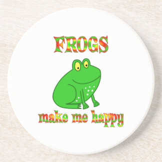 Las ranas me hacen feliz posavasos manualidades
