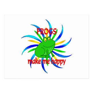Las ranas me hacen feliz postales