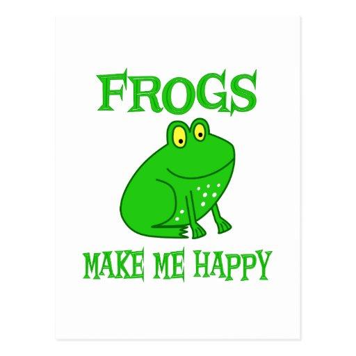 Las ranas me hacen feliz tarjetas postales