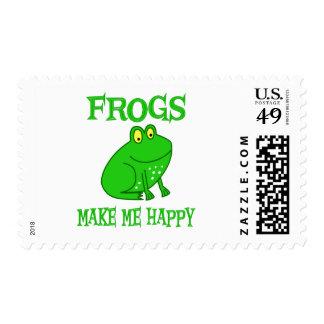 Las ranas me hacen feliz timbres postales