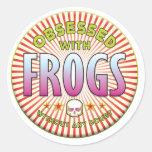 Las ranas obsesionaron R Etiquetas Redondas