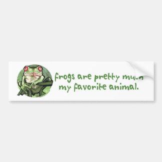Las ranas son bonitas mucho mi animal preferido. B Pegatina Para Auto