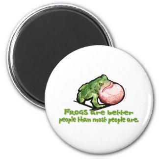 Las ranas son una mejor gente que la mayoría de la iman para frigorífico