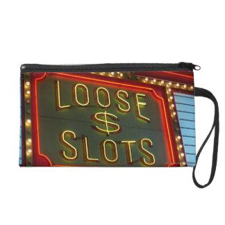 Las ranuras flojas firman en el casino, Las Vegas,