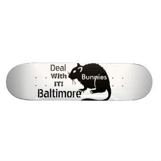 """¡Las ratas de los """"conejitos"""" de Baltimore tratan Monopatines"""