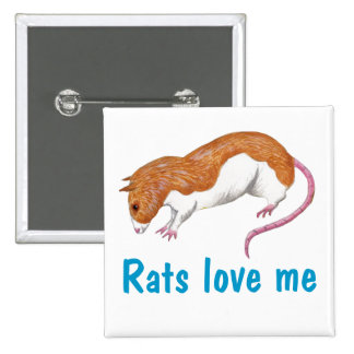 las ratas me aman insignia pins