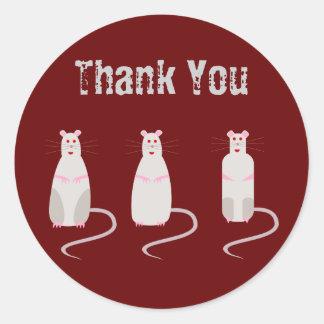 Las ratas Rojo-Observadas le agradecen pegatina