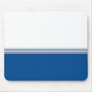 Las rayas azul marino mínimas modernas elegantes tapetes de ratón