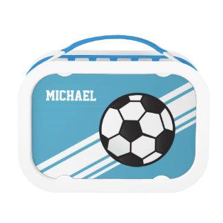 Las rayas azules del balón de fútbol personalizaro