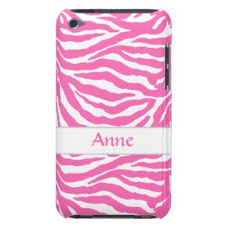 Las rayas de la cebra en rosas fuertes en iPod iPod Touch Carcasas