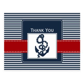 las rayas de la marina de guerra ancla boda tarjeta postal