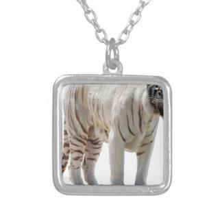 Las rayas del gato de tigre personalizan colgante cuadrado