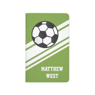 Las rayas deportivas verdes personalizaron el cuaderno