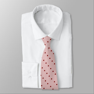 las rayas diagonales de puntos desiguales rojos corbata personalizada