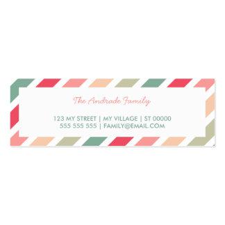 Las rayas diagonales personalizaron tarjetas de tarjetas de visita mini
