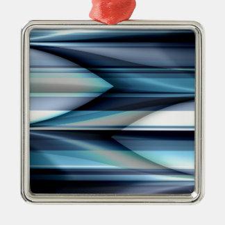 Las rayas modelan azul claro creado por Tutti Adorno Navideño Cuadrado De Metal