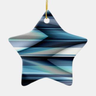 Las rayas modelan azul claro creado por Tutti Adorno Navideño De Cerámica En Forma De Estrella