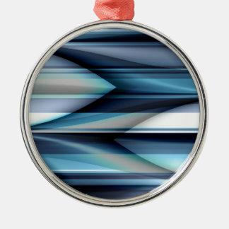 Las rayas modelan azul claro creado por Tutti Adorno Navideño Redondo De Metal
