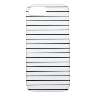 Las rayas modelan blanco y negro mínimo funda iPhone 7