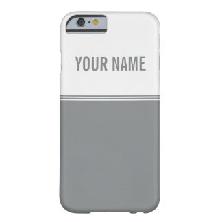 Las rayas modernas alisan el nombre de encargo de funda de iPhone 6 barely there