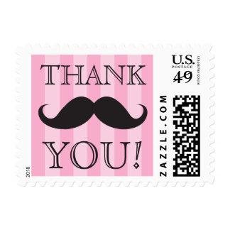 Las rayas negras del rosa del bigote le agradecen timbres postales