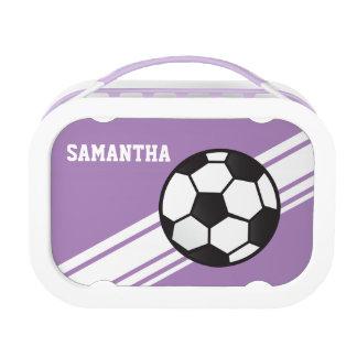 Las rayas púrpuras del balón de fútbol personaliza