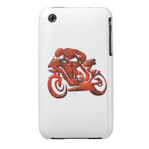 Las rayas rojas grabaron en relieve al corredor de iPhone 3 Case-Mate carcasas