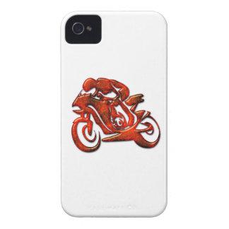 Las rayas rojas grabaron en relieve al corredor de iPhone 4 Case-Mate cárcasa