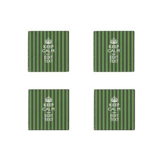 Las rayas verdes personalizadas guardan calma su imán de piedra