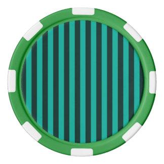 ¡Las rayas verticales de la turquesa modifican Fichas De Póquer